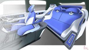 luxury leather car interior