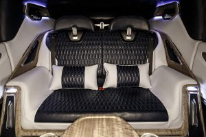 luxury leather car interior